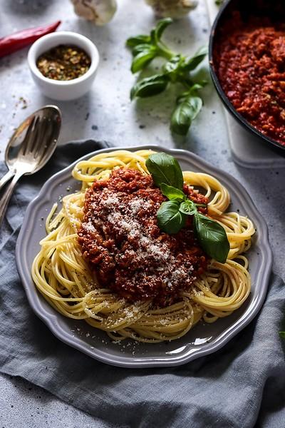 Vegan Bolognese Pasta