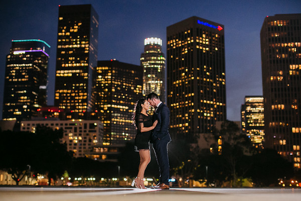 Gaby and John | Downtown Los Angeles Engagement