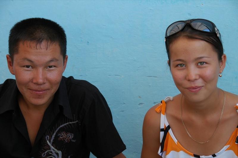 Cute Couple at Market - Nukus, Uzbekistan