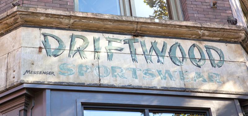 Driftwood Sportswear Sign