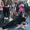 Jefferson Graham poses on Hollywood Blvd.