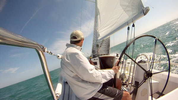 Screen capture from our onboard video. Travis at the wheel