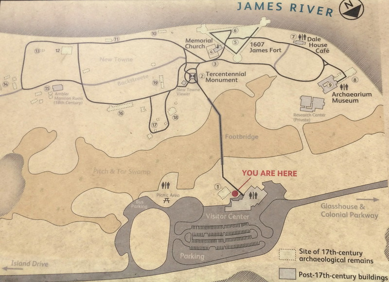 Historic Jamestowne Site Map