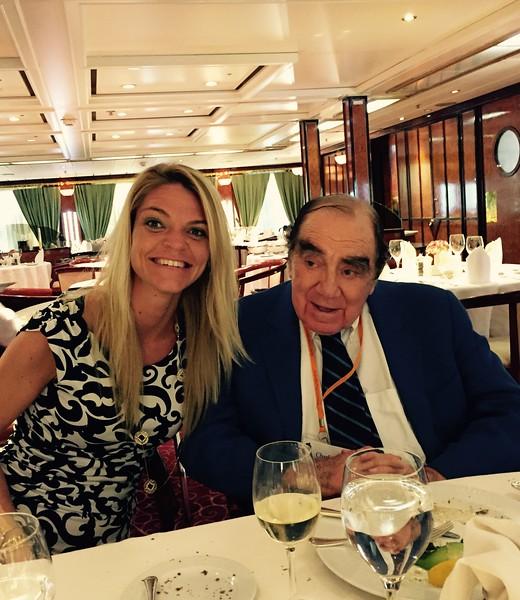 Enjoying dinner with Charlie - Bridget St. Clair