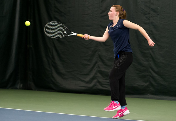 04/26/19 Wesley Bunnell | Staff Newington girls tennis vs Maloney on Friday afternoon at the Newington Tennis Center. Mara Klin plays in the #3 match.