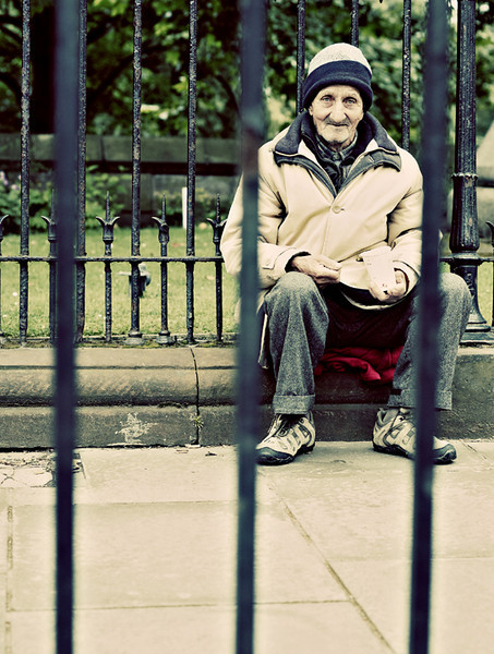 Behind Bars - Edinburgh - Street Portrait