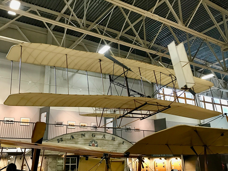 A replica of the first airplane Hill Aerospace Museum Ogden Utah