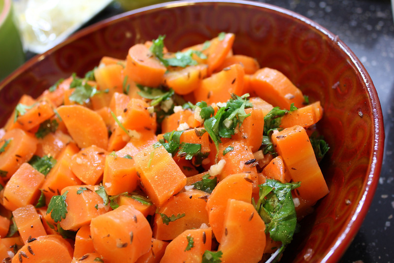 Mediterranean Cooking Class January 23, 2013: Moroccan cooked carrot salad