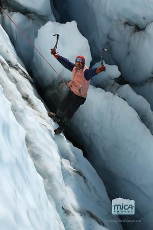 Ice Climb with Sandra and Erick