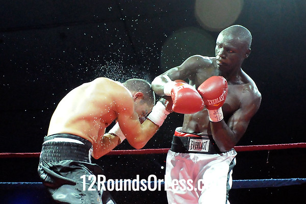 Bout 5(Pro 4) Peter Olouch, Nairobi, Kenya -vs- Jake Giuriceo, Youngstown, OH  Junior Welterweight