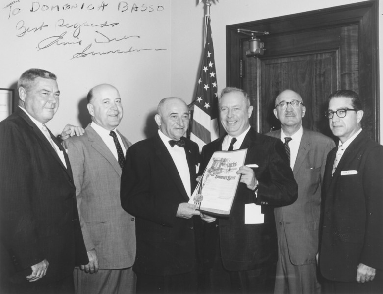 1958, Receiving City Award