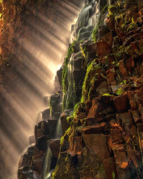 Sun Rays through the Falls