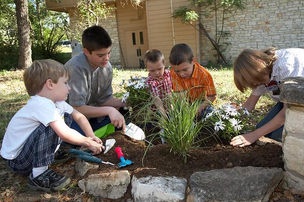 Planting the Prayer Garden 2006