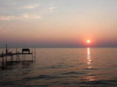 Sunsets on Lake Winnebago, Wisconsin