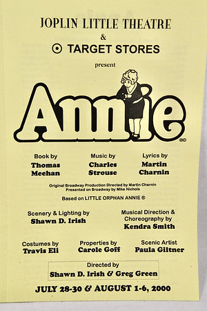 7-28-2000 Annie @ Joplin Little Theatre