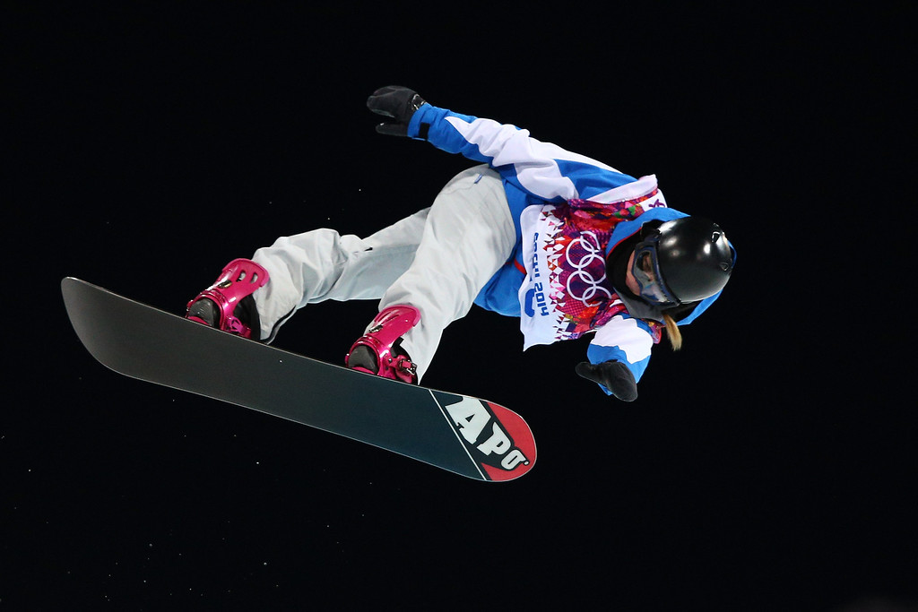 . Mirabelle Thovex of France competes in the Snowboard Women\'s Halfpipe Finals on day five of the Sochi 2014 Winter Olympics at Rosa Khutor Extreme Park on February 12, 2014 in Sochi, Russia.  (Photo by Cameron Spencer/Getty Images)