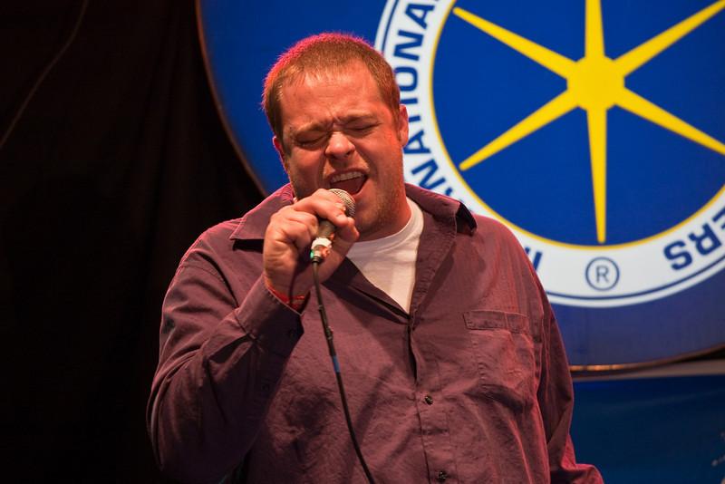 Singing karaoke