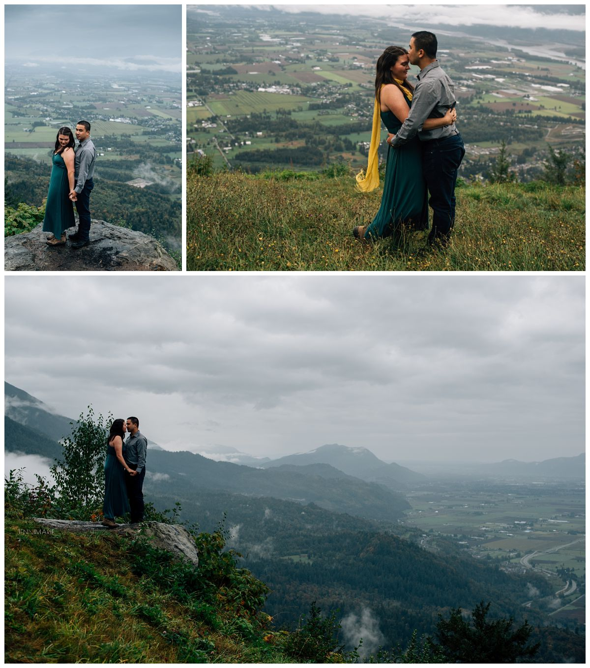 Mountaintop Engagement Photos Chilliwack