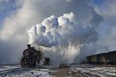 SY1601 emerges from the steam cloud
