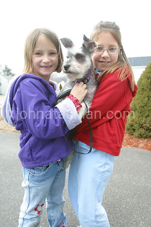 Courtney & Lyndsey Claudette with Sadie - March 4, 2004