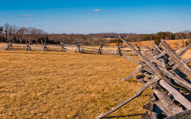 Snake Fence and Field View, Manassas Battlefield, Virginia