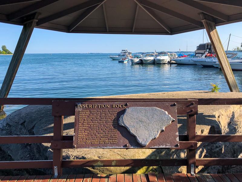 Inscription rock on Kelleys Island