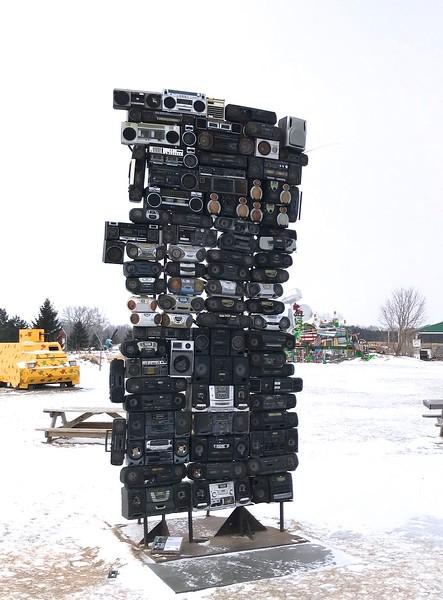 I had never seen a boom box statue!
