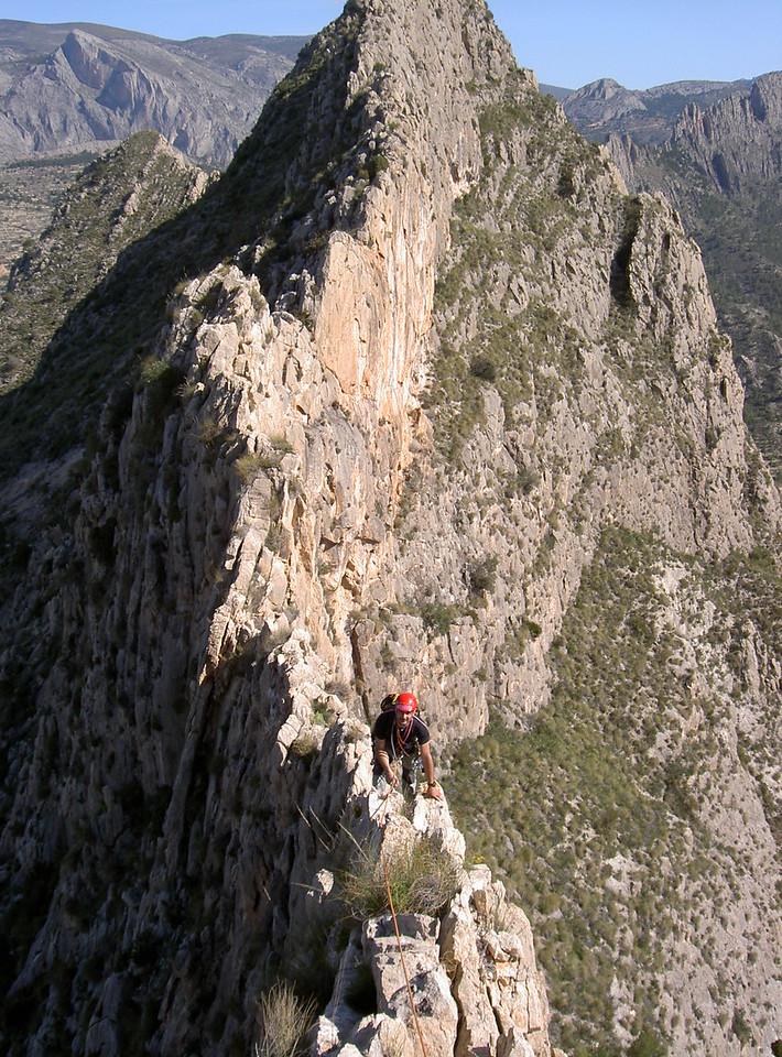 Rich commencing the Castellets second ridge climb