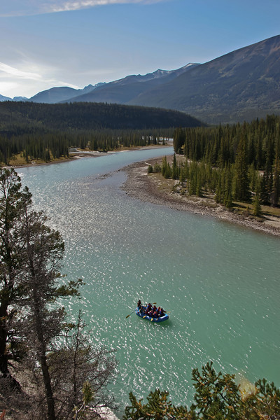 Rafting on the Athabasca.