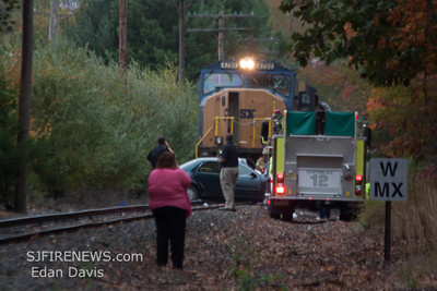 10-19-2012 MVC With Entrapment, Clayton, Gloucester County, W. Chestnut St. @ the Railroad Tracks