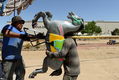Photos: Boulder County Fair setup