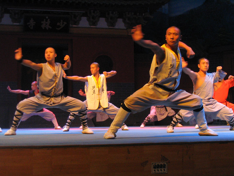 The show at Shaolin Theater.  They guys aren't really monks.  And that position is way harder than it looks.
