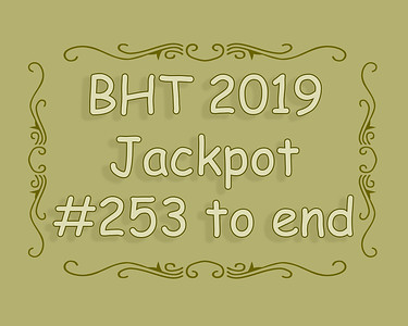 BHT Barrel Racing Jackpot #'s 253 to end