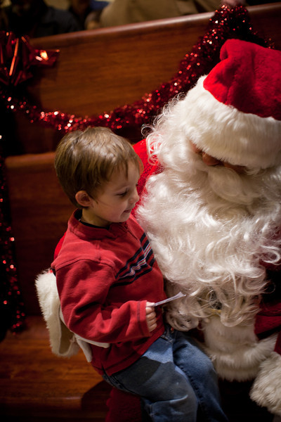 A visit with Santa at the Illinois Central Railroad in Mattoon, Illinois on December 10, 2011. (Jay Grabiec)