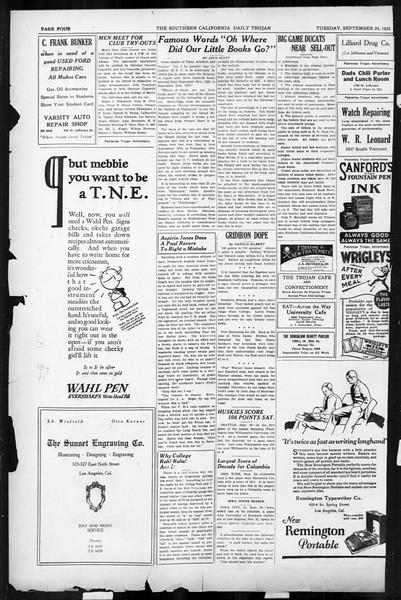 Daily Trojan, Vol. 17, No. 10, September 29, 1925