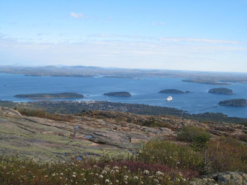 View of Bar Harbor from Cadillac Mountain, Acadia National Park