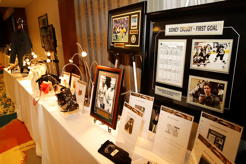 Silent auction and raffle items at BHS Crystal Ball. Seb Foltz/Butler Eagle
