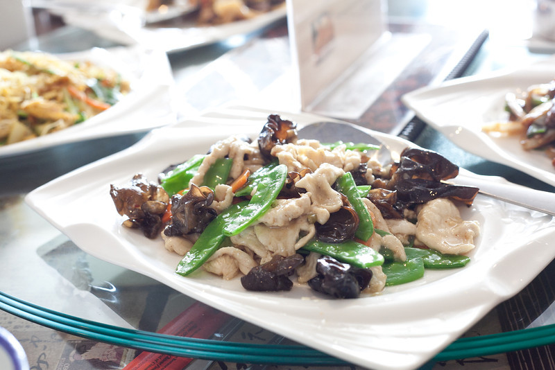 Peter Chang's, Chicken with Wood Ear Mushrooms & Snow Peas