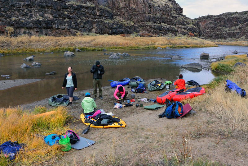 Breakfast on our 3rd morning at the confluence of Costilla Creek and the Rio Grande.