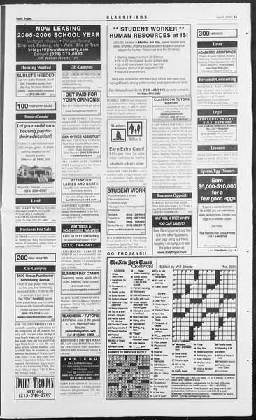 Daily Trojan, Vol. 154, No. 51, April 06, 2005