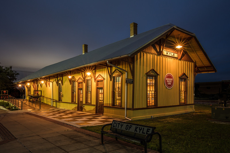 Restored Kyle Train Depot, Kyle, Texas