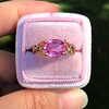 2.40ct Pink Sapphire Ring, by Rose Gold Ring by Beverly K 0