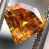 .84ct Fancy Deep Orange-Yellow Shield Shape Diamond, GIA 0