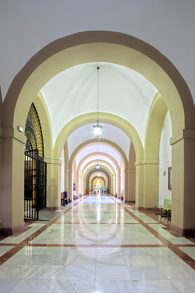 Corridor, University of Seville (former Royal Tobacco Factory), Spain