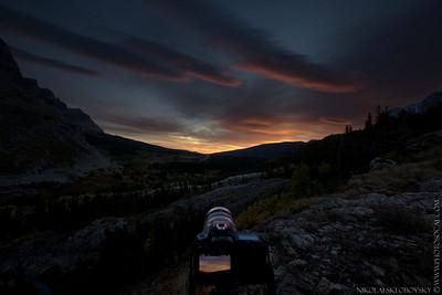 Sunrise at Many Glacier
