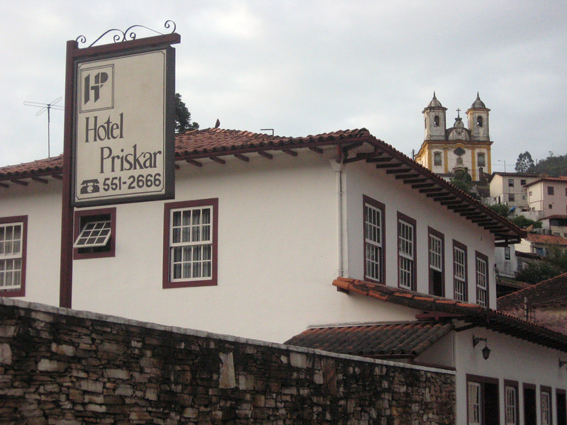 My home in Ouro Preto, about a quarter-mile of cobble-stone streets away from the conference site.