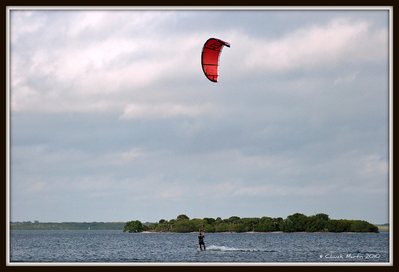 Unidentified Kite Boarder on the Indian River - Titusville, FL