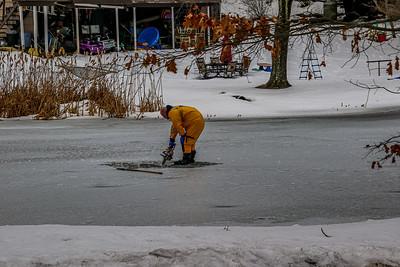 2-28-2021 ICE RESCUE DRILL, SPY POND Photos By Bob Rimm