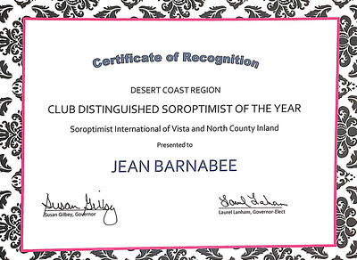 Jean Barnebee Recognition Award