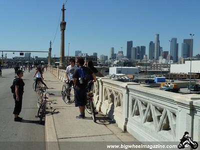 Fun on the bridge - CicLAvia 2011 - Los Angeles, CA - October 9, 2011